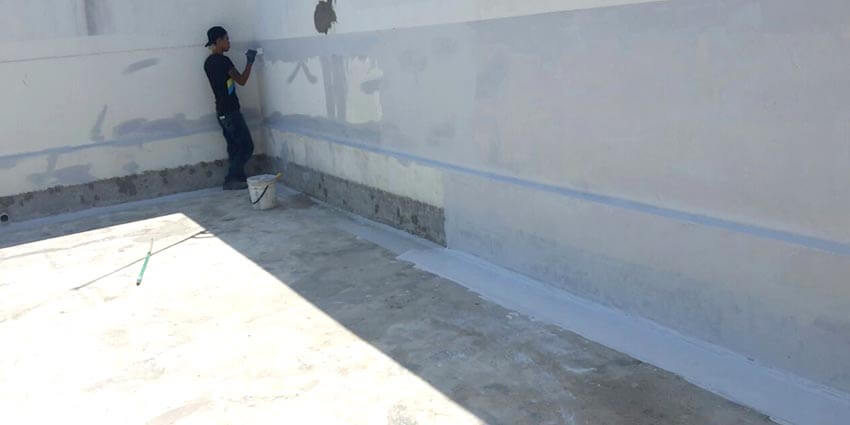 Nano-G's Service Team Working On Waterproofing The Hospital