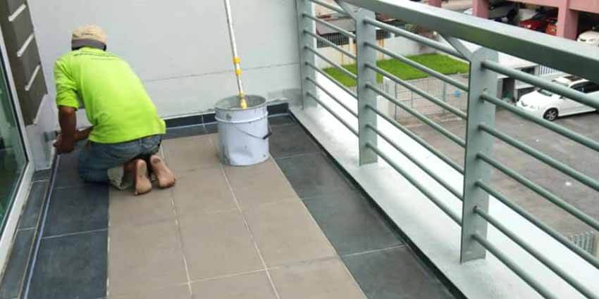 Nano-G's Service Team Waterproofing The Balcony