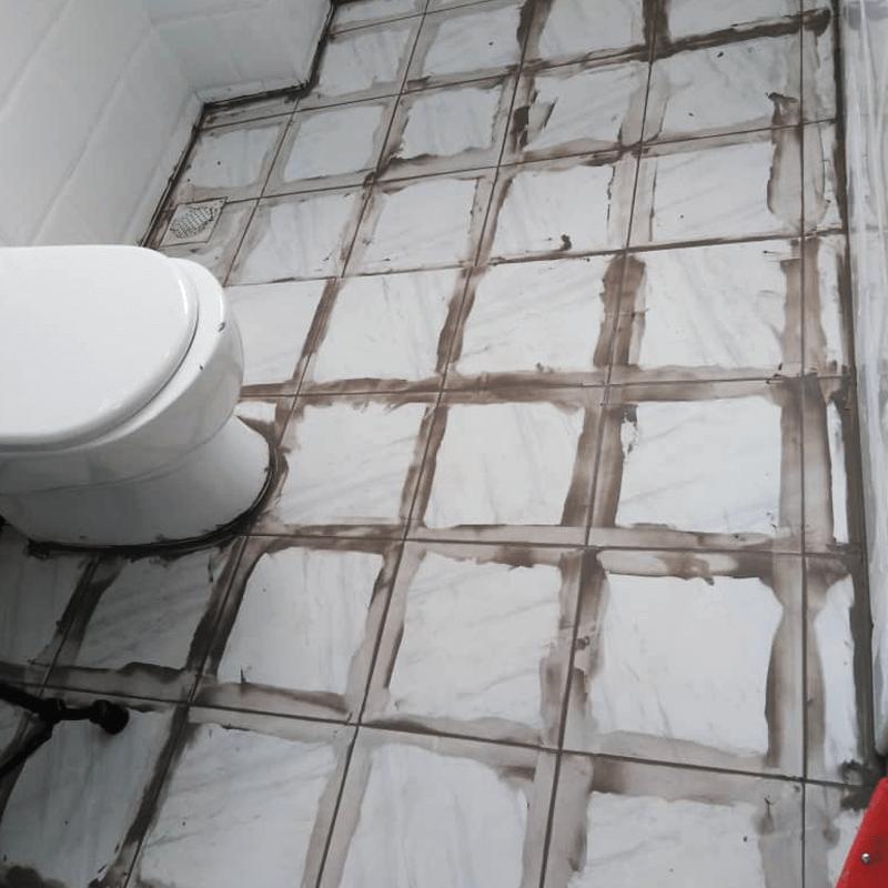 Bathroom Before Nano-G's Waterproofing And Anti-Slip Coating