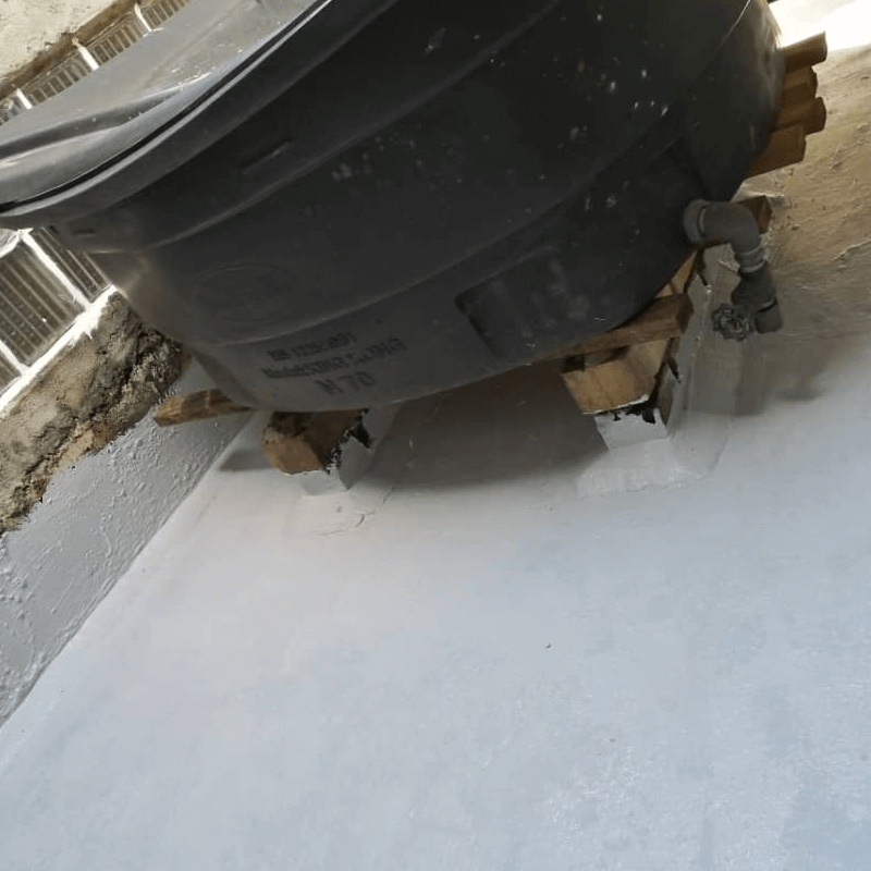 Nano-G After Applying Anti-Slip Coating At Water Tank Area