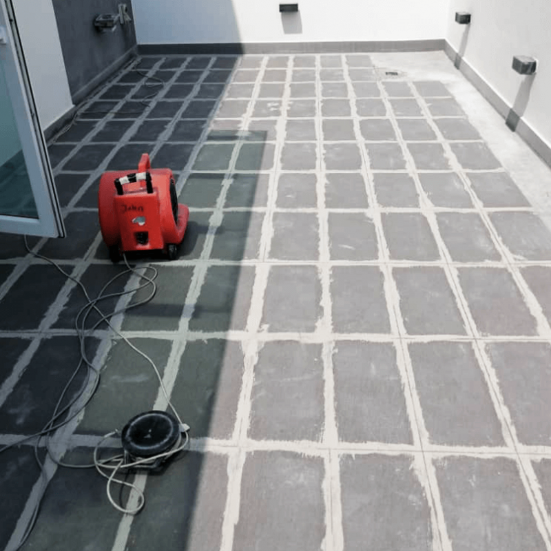 Condition Of Leaking Rooftop Concrete Before Nano-G's Waterproofing Services