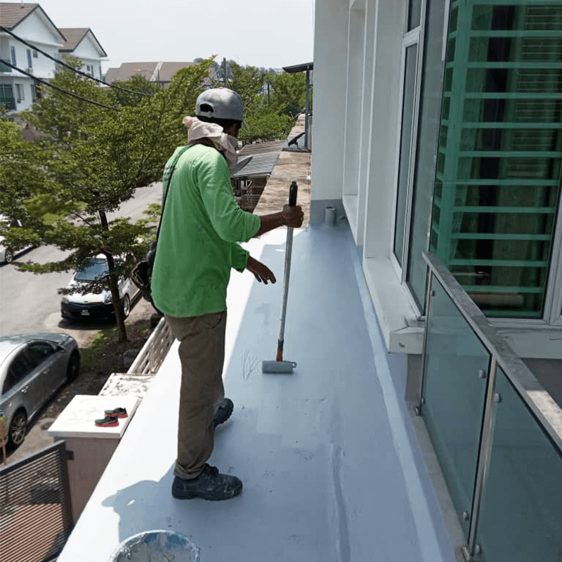 Hairline cracks and mould were cleaned off before applying Nano-G's Nanotechnology Waterproofing solutions to prevent future water leakage while making the roof look brand new.