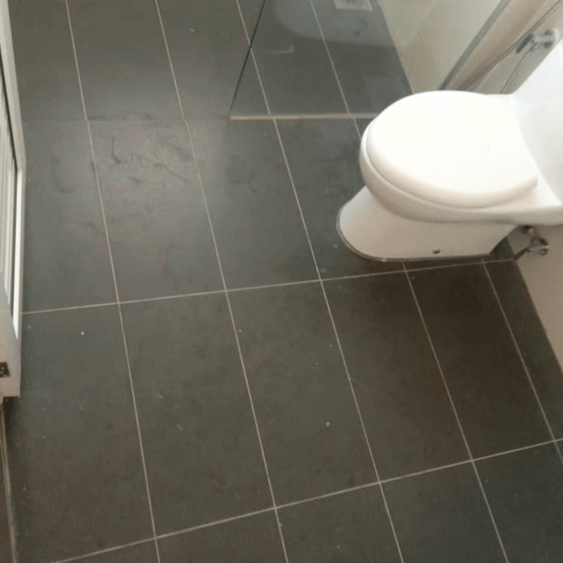 Bathroom tiles cleaned and dried